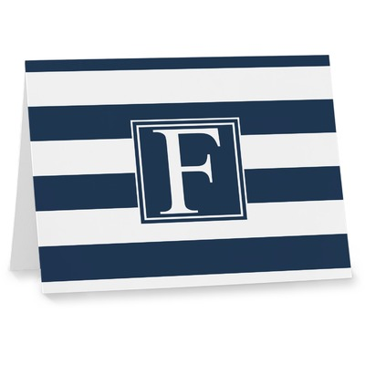 Horizontal Stripe Note cards (Personalized)