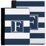 Horizontal Stripe Notebook Padfolio w/ Initial