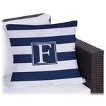 Horizontal Stripe Outdoor Pillow (Personalized)
