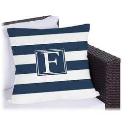 Horizontal Stripe Outdoor Pillow (Personalized)