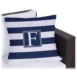 "Horizontal Stripe Outdoor Pillow - 18"" (Personalized)"