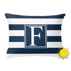 Horizontal Stripe Outdoor Throw Pillow (Rectangular) (Personalized)