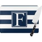 Horizontal Stripe Rectangular Glass Cutting Board (Personalized)