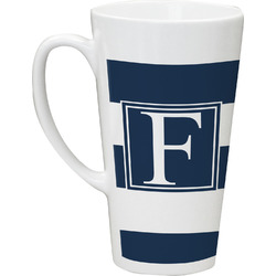Horizontal Stripe Latte Mug (Personalized)