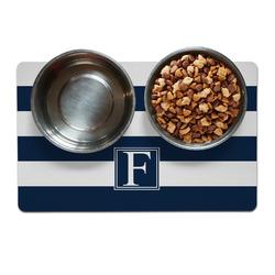 Horizontal Stripe Dog Food Mat (Personalized)