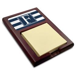 Horizontal Stripe Red Mahogany Sticky Note Holder (Personalized)