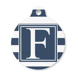 Horizontal Stripe Round Pet ID Tag (Personalized)
