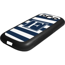 Horizontal Stripe Rubber Samsung Galaxy 3 Phone Case (Personalized)