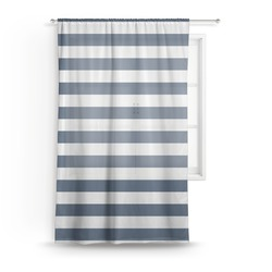"Horizontal Stripe Sheer Curtain - 50""x84"" (Personalized)"