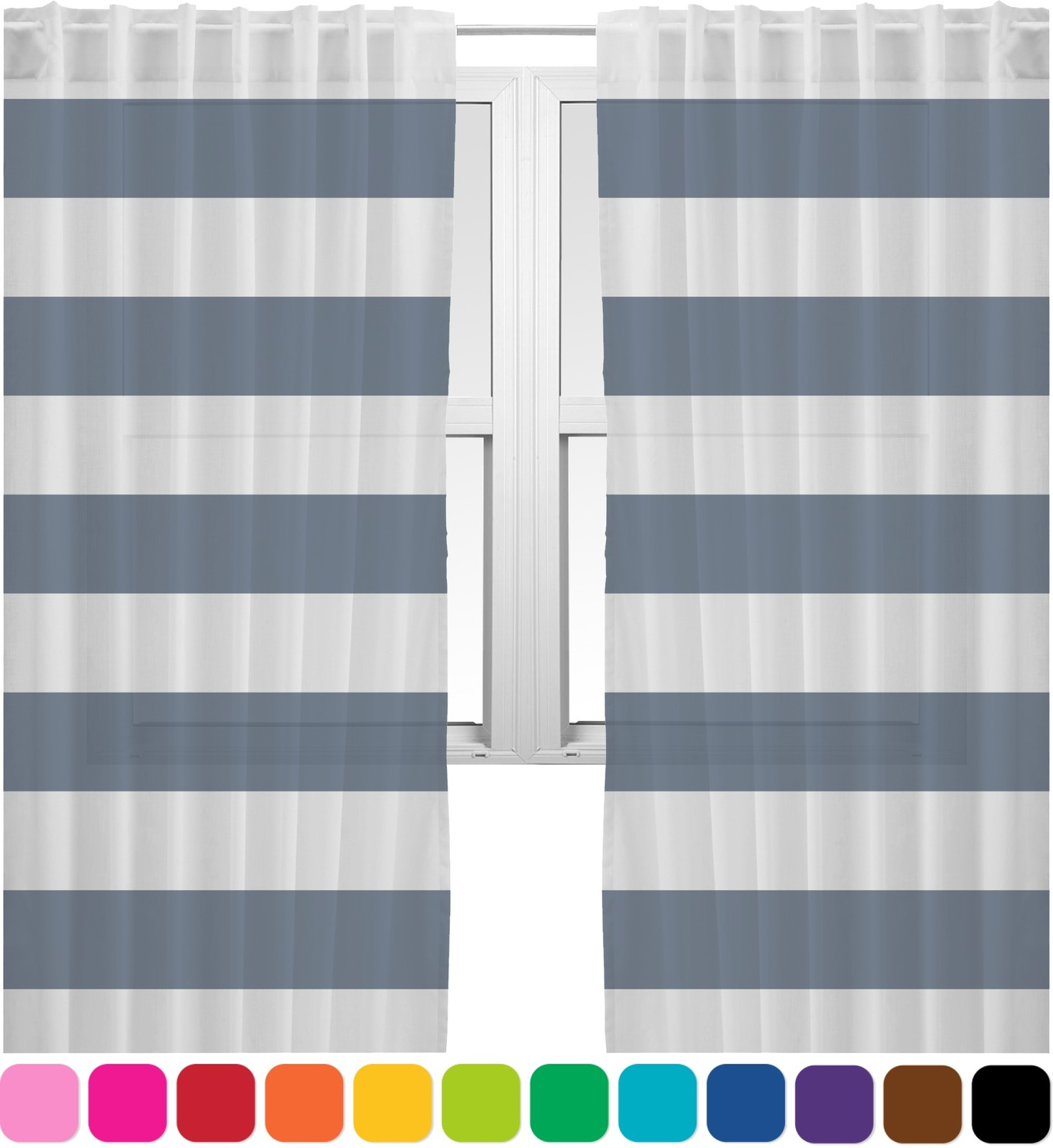 Horizontal Stripe Sheer Curtains Personalized You Customize It