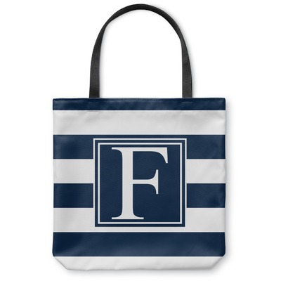 Horizontal Stripe Canvas Tote Bag (Personalized)