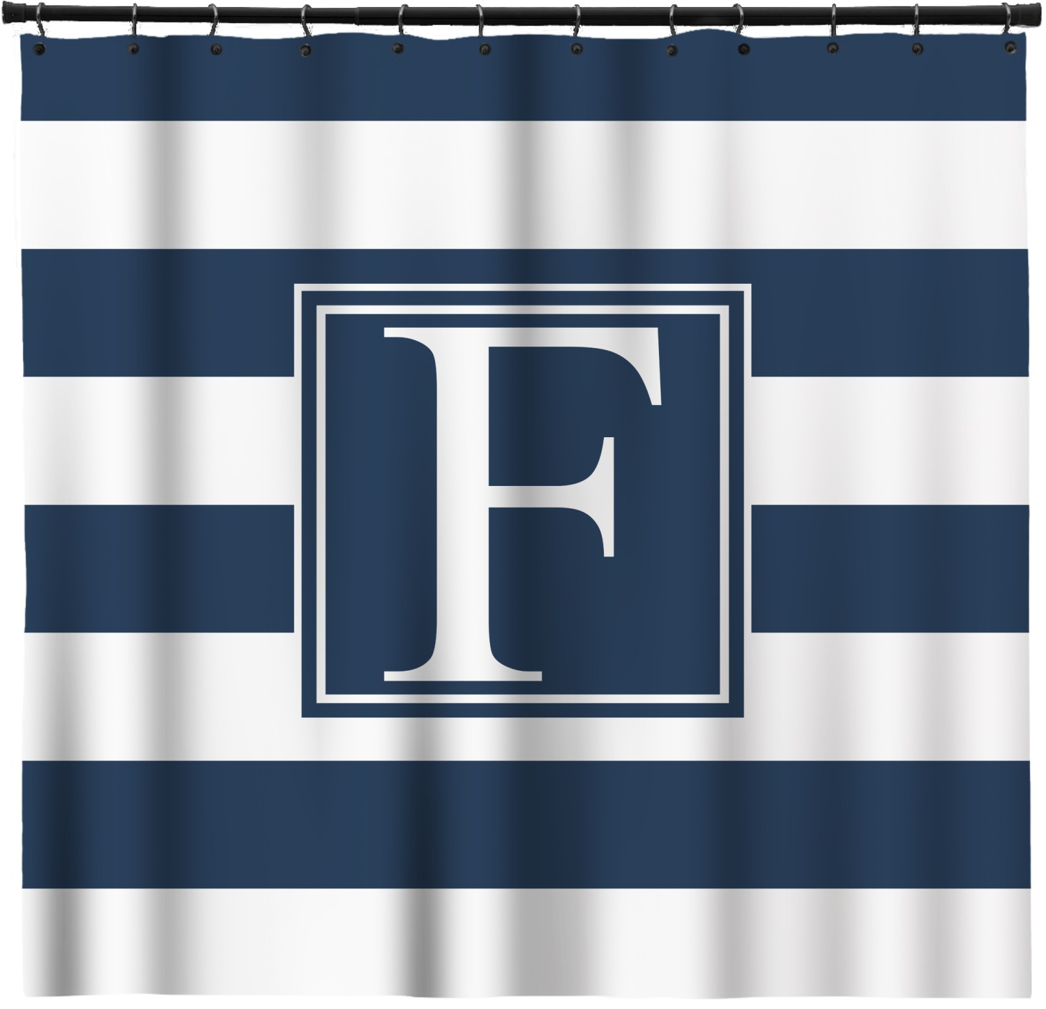 Horizontal Stripe Shower Curtain Personalized