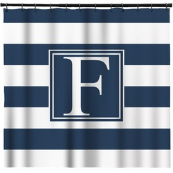 Horizontal Stripe Shower Curtain (Personalized)