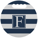 Horizontal Stripe Stadium Cushion (Round) (Personalized)