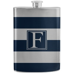 Horizontal Stripe Stainless Steel Flask (Personalized)