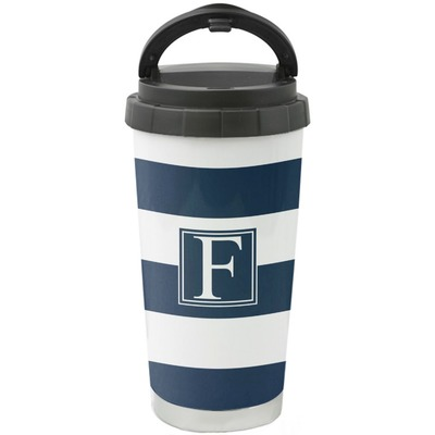 Horizontal Stripe Stainless Steel Coffee Tumbler (Personalized)