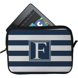 Horizontal Stripe Tablet Case / Sleeve - Small (Personalized)