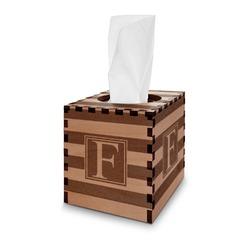Horizontal Stripe Wooden Tissue Box Cover - Square (Personalized)