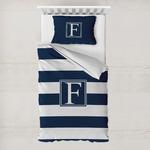 Horizontal Stripe Toddler Bedding w/ Initial