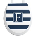 Horizontal Stripe Toilet Seat Decal (Personalized)