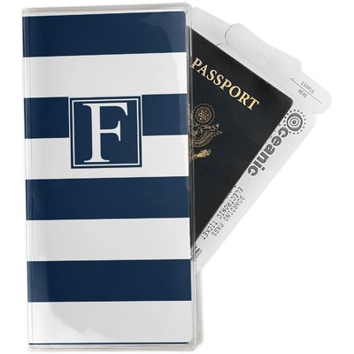 Horizontal Stripe Travel Document Holder