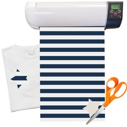 "Horizontal Stripe Heat Transfer Vinyl Sheet (12""x18"")"
