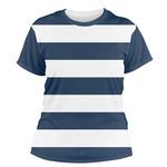 Horizontal Stripe Women's Crew T-Shirt (Personalized)