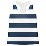Horizontal Stripe Womens Racerback Tank Top (Personalized)