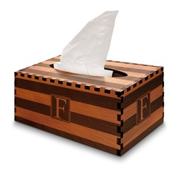 Horizontal Stripe Wooden Tissue Box Cover - Rectangle (Personalized)