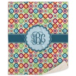 Retro Circles Sherpa Throw Blanket (Personalized)
