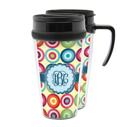 Retro Circles Acrylic Travel Mugs (Personalized)