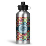 Retro Circles Water Bottle - Aluminum - 20 oz (Personalized)