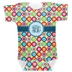Retro Circles Baby Bodysuit (Personalized)