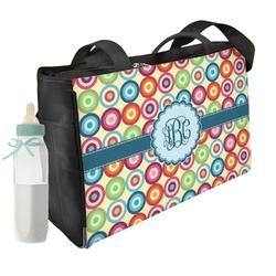 Retro Circles Diaper Bag (Personalized)