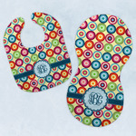 Retro Circles Baby Bib & Burp Set w/ Monogram