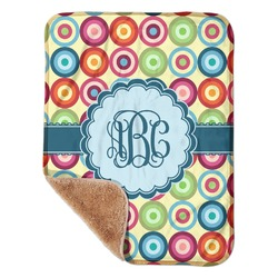 """Retro Circles Sherpa Baby Blanket 30"""" x 40"""" (Personalized)"""