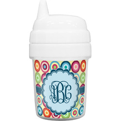 Retro Circles Baby Sippy Cup (Personalized)