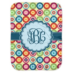 Retro Circles Baby Swaddling Blanket (Personalized)