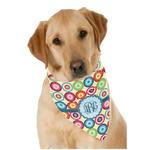 Retro Circles Dog Bandana Scarf w/ Monogram