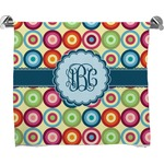 Retro Circles Full Print Bath Towel (Personalized)
