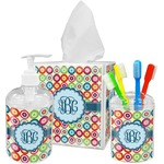 Retro Circles Bathroom Accessories Set (Personalized)