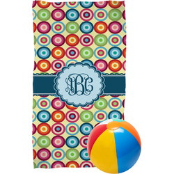 Retro Circles Beach Towel (Personalized)