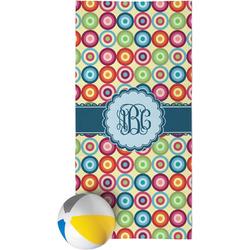 Retro Circles Beach Towel (Personalized)