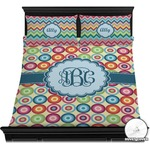 Retro Circles Duvet Cover Set (Personalized)