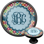 Retro Circles Cabinet Knob (Black) (Personalized)
