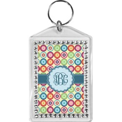 Retro Circles Bling Keychain (Personalized)
