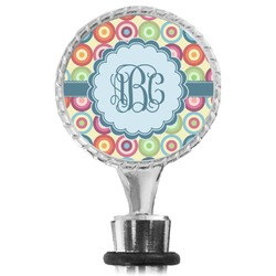 Retro Circles Wine Bottle Stopper (Personalized)