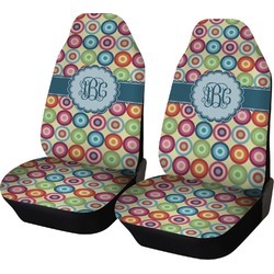 Retro Circles Car Seat Covers (Set of Two) (Personalized)