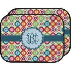 Retro Circles Car Floor Mats (Back Seat) (Personalized)
