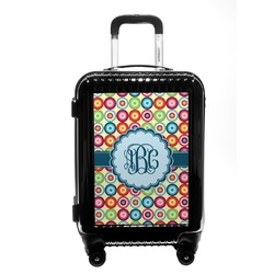 Retro Circles Carry On Hard Shell Suitcase (Personalized)